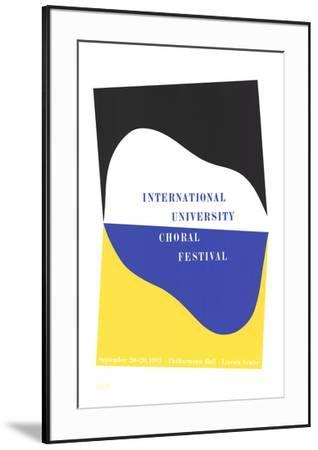 International University Choral Festival-Charles Hinman-Framed Serigraph