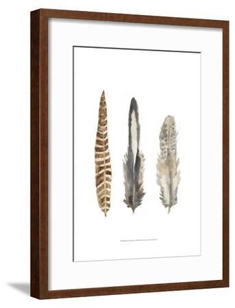 Watercolor Plumes I-Naomi McCavitt-Framed Art Print