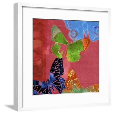 Saturated Butterflies I-Sisa Jasper-Framed Art Print
