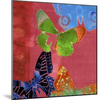 Saturated Butterflies I-Sisa Jasper-Mounted Art Print
