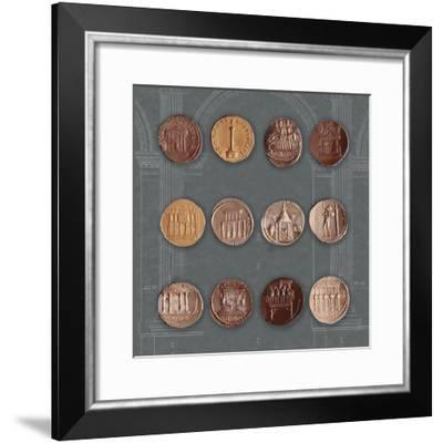 Roman Coins I-The Vintage Collection-Framed Giclee Print