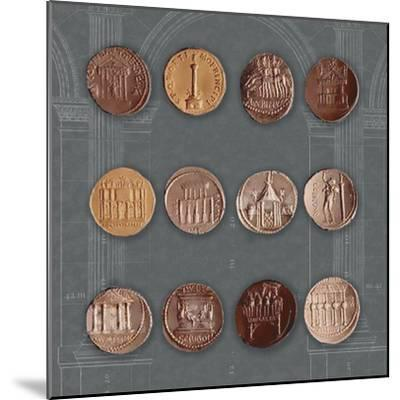 Roman Coins I-The Vintage Collection-Mounted Giclee Print