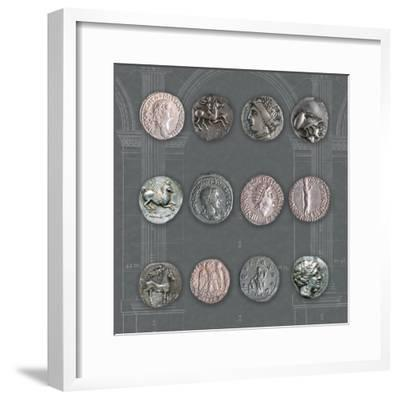 Roman Coins II-The Vintage Collection-Framed Giclee Print