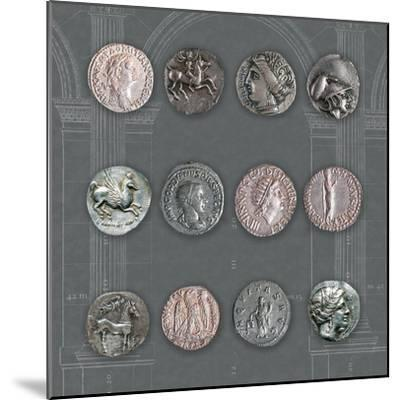 Roman Coins II-The Vintage Collection-Mounted Giclee Print