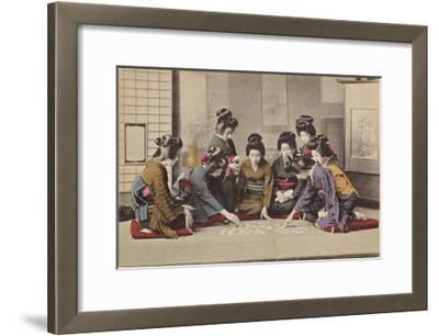 Girls Playing Uta-Garuta- The Kyoto Collection-Framed Premium Giclee Print