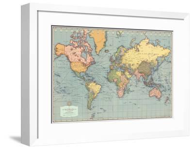 Mondo Moderno (Modern World)- World Map Poster by   Art.com on