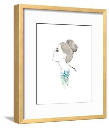 The Garden Around My Neck-Jessica Durrant-Framed Art Print