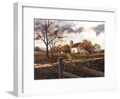 Autumn Cascade - Autumn Barn-Michael Humphries-Framed Art Print