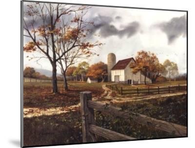 Autumn Cascade - Autumn Barn-Michael Humphries-Mounted Art Print