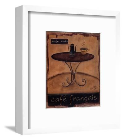 Cafe Francais-Kim Klassen-Framed Art Print