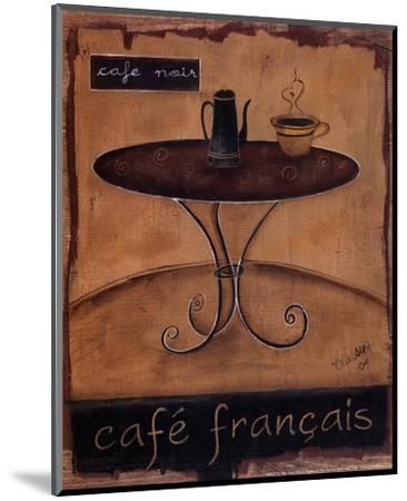 Cafe Francais-Kim Klassen-Mounted Art Print