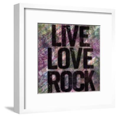 Live Love Rock-Louise Carey-Framed Art Print