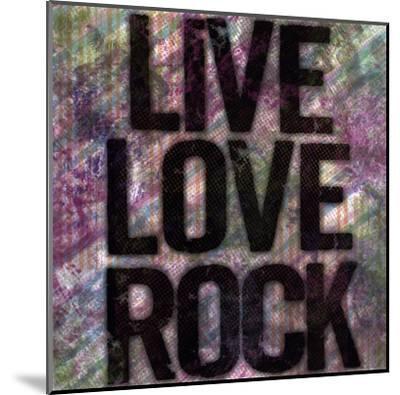 Live Love Rock-Louise Carey-Mounted Art Print