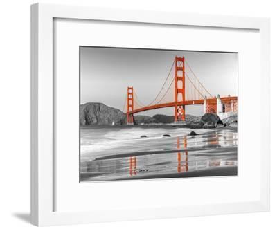 Baker beach and Golden Gate Bridge, San Francisco--Framed Art Print