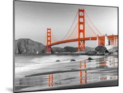 Baker beach and Golden Gate Bridge, San Francisco--Mounted Art Print