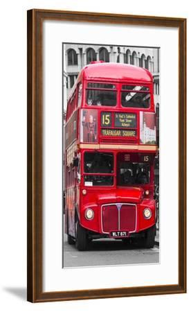 Double-Decker bus, London-Pangea Images-Framed Art Print