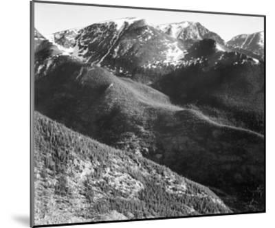 Hills and mountains, in Rocky Mountain National Park, Colorado, ca. 1941-1942-Ansel Adams-Mounted Art Print