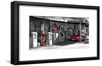Vintage gas station on Route 66 Art Print by Vadim Ratsenskiy | Art com