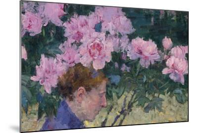 Peonies and head of a Woman-John Peter Russell-Mounted Giclee Print