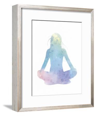 Sukhasana - Meditate-Sasha Blake-Framed Art Print