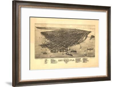 Key West, FL - 1884-Bill Cannon-Framed Giclee Print
