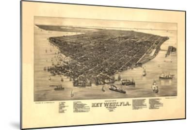 Key West, FL - 1884-Bill Cannon-Mounted Giclee Print