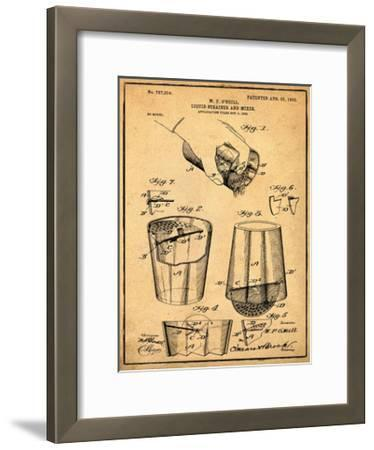 Cocktail Mixer 1903 Sepia-Bill Cannon-Framed Giclee Print