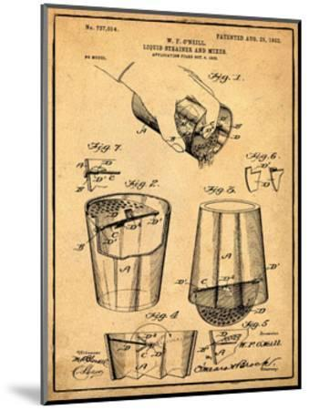 Cocktail Mixer 1903 Sepia-Bill Cannon-Mounted Giclee Print