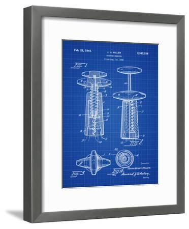 Corkscrew 1944 Blueprint-Bill Cannon-Framed Giclee Print
