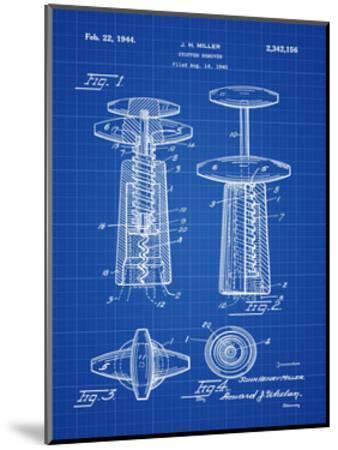 Corkscrew 1944 Blueprint-Bill Cannon-Mounted Giclee Print