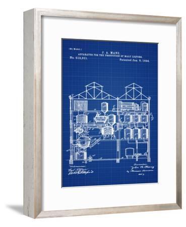 Brewing Malt Liquors 1894 Blue-Bill Cannon-Framed Giclee Print