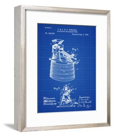 Wine Making 1893 Blueprint-Bill Cannon-Framed Giclee Print