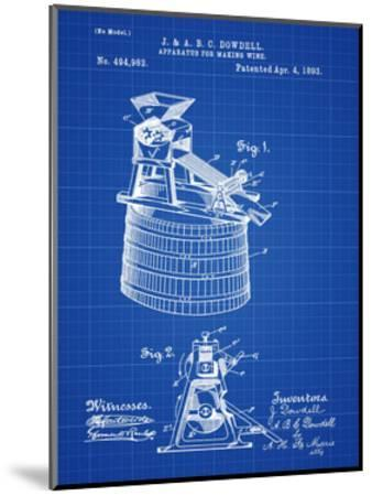 Wine Making 1893 Blueprint-Bill Cannon-Mounted Giclee Print