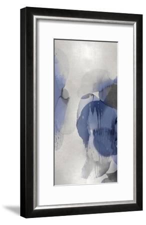 Cascade Indigo Triptych II-Kristina Jett-Framed Giclee Print