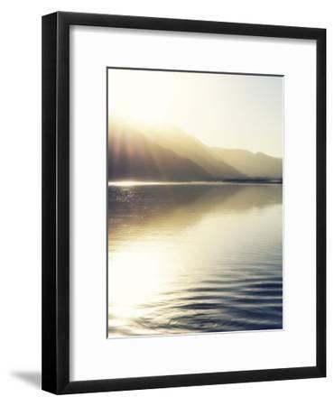 Knik River scenic-Savanah Plank-Framed Giclee Print