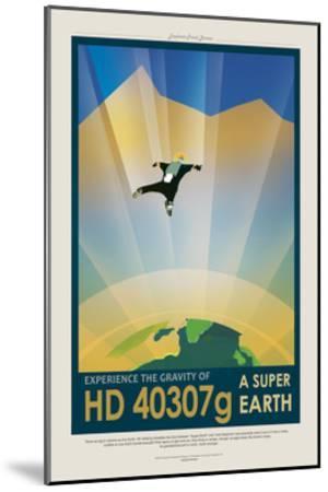 Super Earth--Mounted Giclee Print