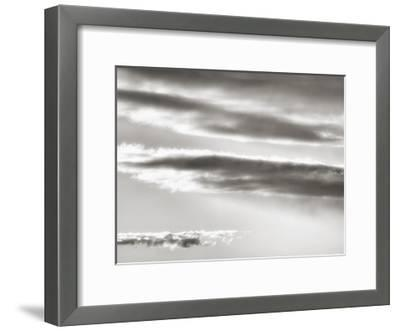 Black and white cloud formatio-Savanah Plank-Framed Giclee Print