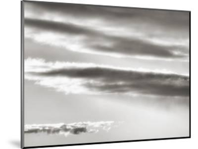 Black and white cloud formatio-Savanah Plank-Mounted Giclee Print