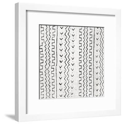 Mudcloth White VI-Ellie Roberts-Framed Giclee Print