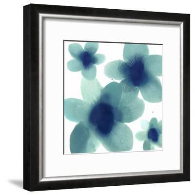 Aqua Blooms II-Hannah Carlson-Framed Giclee Print