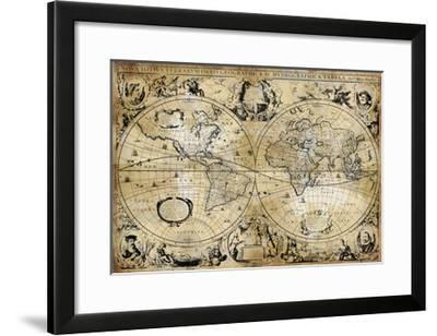 Antique Map I-Russell Brennan-Framed Giclee Print