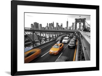 Leaving Manhattan--Framed Giclee Print