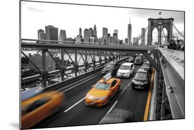Leaving Manhattan--Mounted Giclee Print