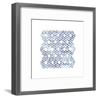 Shibori - Kumo--Framed Art Print