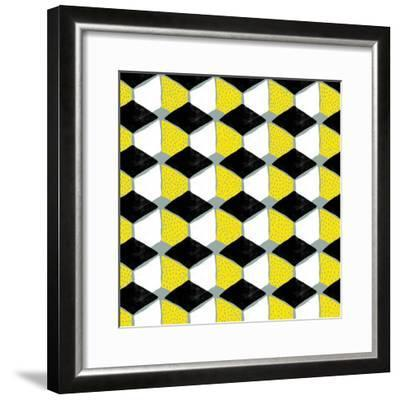 Tumbling Blocks III--Framed Giclee Print