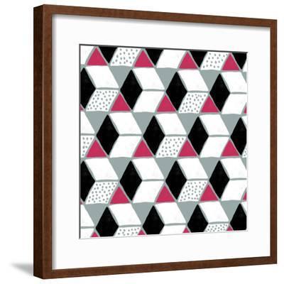 Tumbling Blocks IV--Framed Giclee Print
