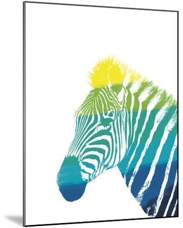 Spectral - Zebra--Mounted Giclee Print
