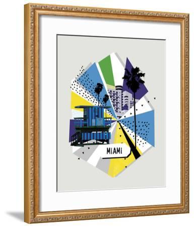 Memphis Group - Miami--Framed Giclee Print