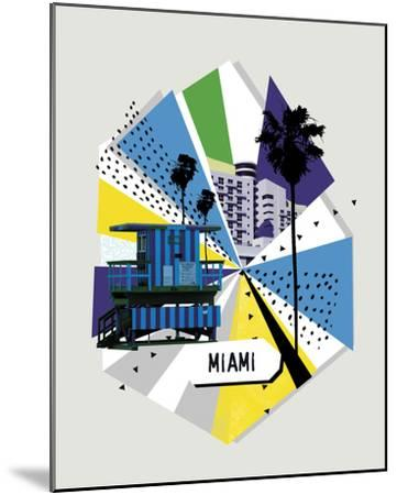 Memphis Group - Miami--Mounted Giclee Print