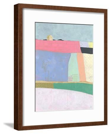 Live Colourfully - Patchwork--Framed Giclee Print